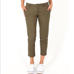 KUT From The Kloth Green Crop Relaxed Trouser
